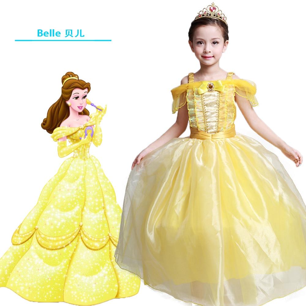 Kids Fair Girls avondjurk Lange jurken Belle Cosplay Kleding Kerstmis - Kinderkleding