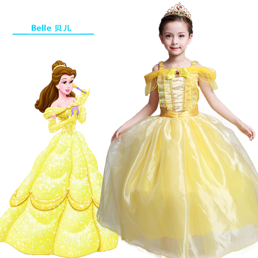 Anak Gadis Adil gaun malam Gaun Panjang Belle Cosplay Pakaian Natal - Pakaian anak anak