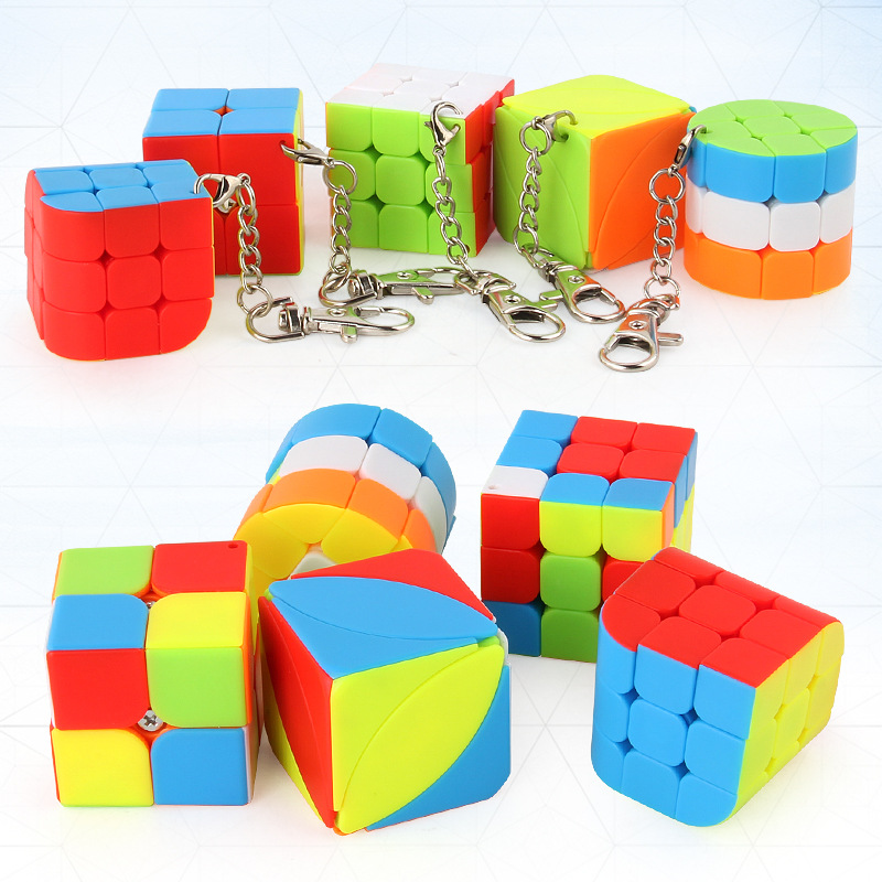 3x3x3 2x2x2 Magic Cube Puzzle Toy Original Box Speed Cube Rubiks Puzzle Cube Keychain Educational Toy For Children Gift z cube bundle black knight 2x2 3x3 4x4 5x5 speed cube set cube pack puzzle carbon fiber cube magic fidget toy gift box