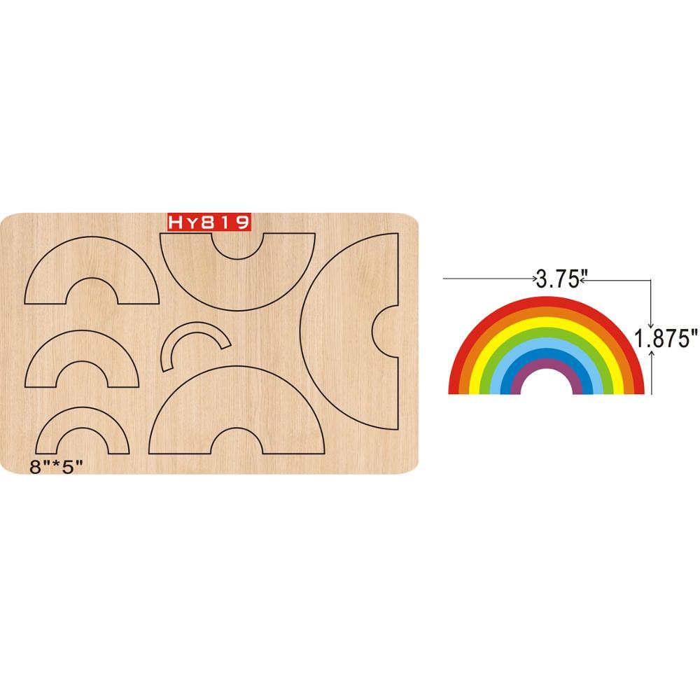 Rainbow  Cutting Dies 2019 New Die Cut &wooden Dies Suitable For Common Die Cutting Machines On The Market