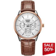 Casio watch Fashion casual men's three-dimensional quartz watch BEM-302L-7A BEM-307L-7A