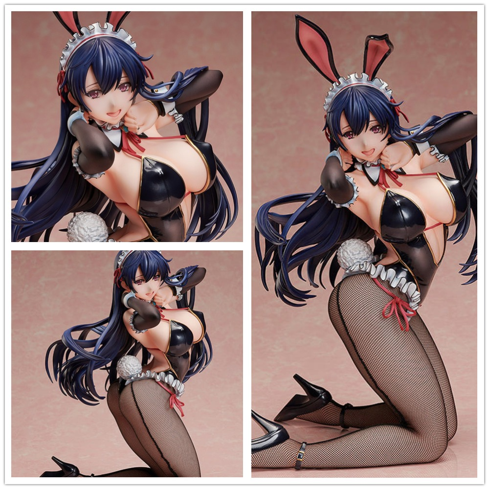 Anime Figure BINDing Ayaka Bunny Ver. <font><b>1/4</b></font> Scale Painted PVC Action Figure Collectible Model <font><b>Sexy</b></font> Adult Doll Toys 35cm image