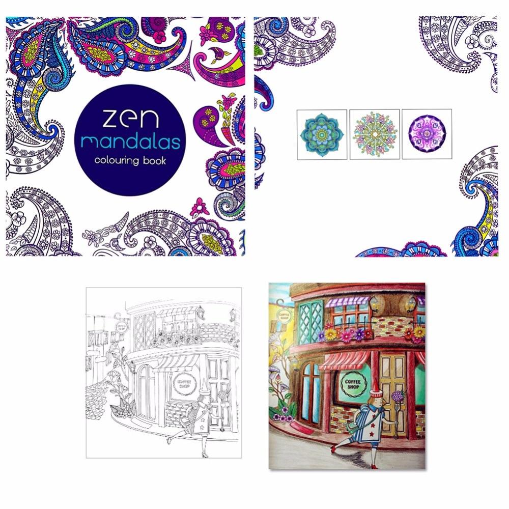 Paperback Children Graffiti Coloring Book Painting English Books Zen Mandalas