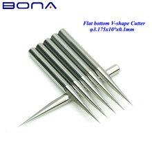 10 sztuk/partia 3.175mm 10 stopni 0.1mm frezy wysokiej jakości płaska podeszwa narzędzia do cięcia bity V kształt węglika narzędzia do grawerowania