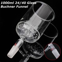 KICUTE 1000ml 24/40 Glass Bu chner Funnel 90mm Pore Plate ISO Standard Borosilicate School Educational Lab Supply Chemistry