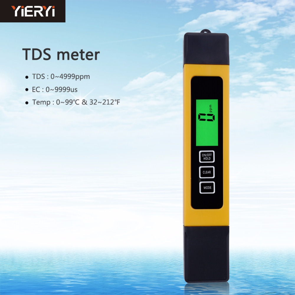 Portable 3 in 1 LCD Digital TDS EC PPM Water Quality Meter Tester Pen Filter