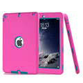 For iPad 6 iPad Air 2 Case Hybrid Armor Kids Baby Safe Silicone Cover Shockproof Heavy Duty Hard Tablet Case+Stylus Pen