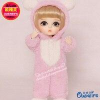 Oueneifs Бесплатная доставка, 8 очков свитер из одежда для малышей, Комбинезоны для женщин с Носки, 1/8 BJD SD одежды куклы, без Куклы или парики YF8-146