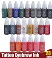5 pcs conjunto de tintas de pigmentos maquiagem definitiva biotouch tatuagem delineador 15 ml tinta pintura do tatuagem cosméticos sobrancelha lip tattoo tinta