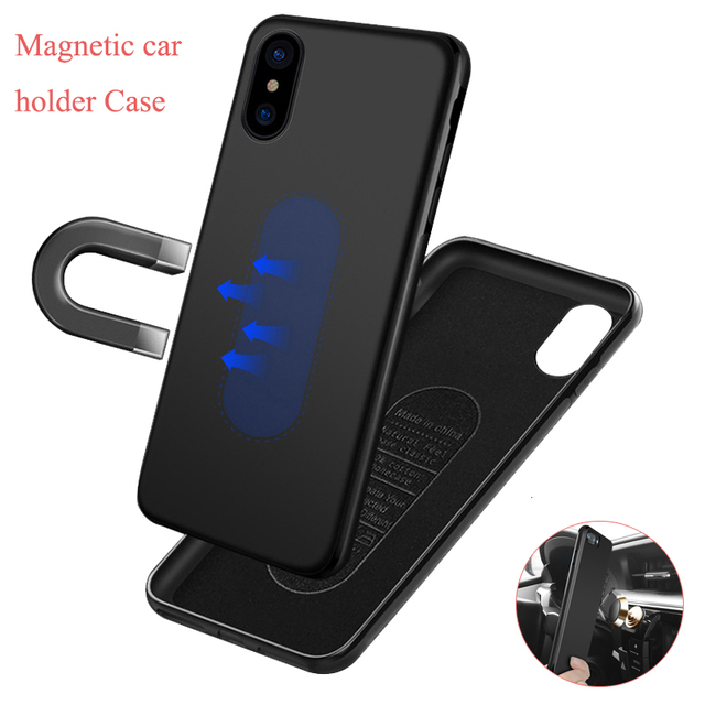 save off 19f97 b554f US $19.17 |10pcs/lot For iphone XR XS MAX X Magnet Case With Metal Plate  Case For iphone 8 7 6 6s plus Car Magnetic Holder Support Cover-in Fitted  ...