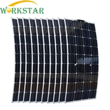 1000W Flexible Solar Panel 10x 100w Solar Module Mono Cell Boat Car House RV Charger Houseuse
