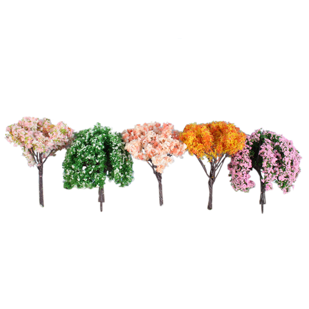 16Pcs Miniature Fairy Garden Artificial Tree Plant Ornament ...