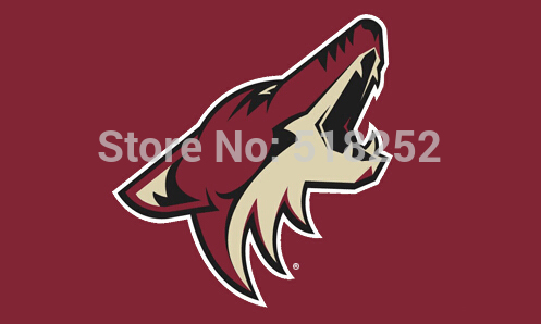 NHL Phoenix Coyotes Flag 3x5 FT 150X90CM Banner 100D Polyester flag 1143, free shipping