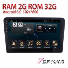 "Car multimedia para VW Bora 2013 2014 2015 10.1 ""Android 6.0 topnavi cassette player SWC AV-IN cam-en quad Core navegación GPS"