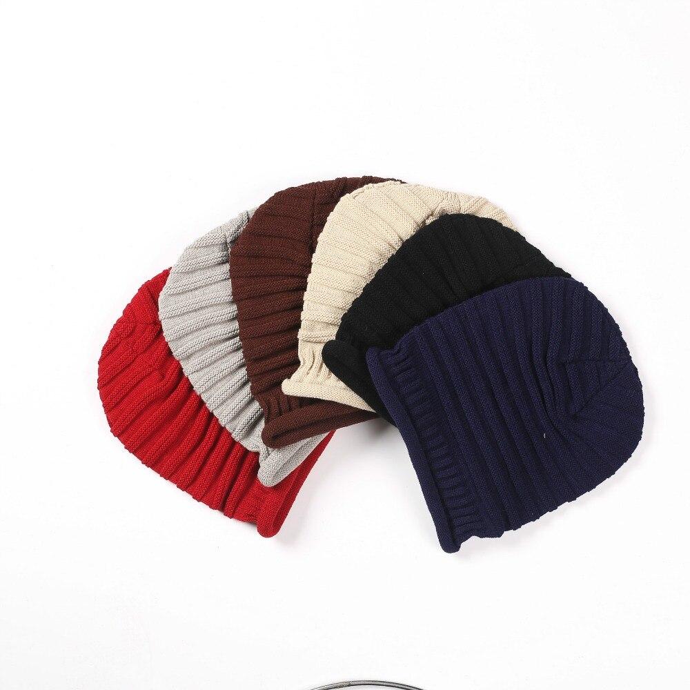 Warm Hat Plain Knit Baggy Beanie Slouch Hat Boho Hip Hat Unisex Slouch hot winter beanie knit crochet ski hat plicate baggy oversized slouch unisex cap