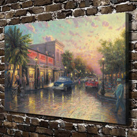 H1172 Thomas Kinkade Key West HD Canvas Print Home Decoration Living Room Bedroom Wall Pictures Art