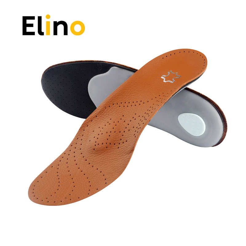 56e01cd956 Detail Feedback Questions about Elino Leather Latex Orthopedic Foot Care  Insole Antibacterial Active Carbon Orthotic Arch Support Instep Flat Foot  Shoe Pad ...