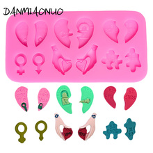 Pop Cake Silicone Mold Heart Cake Tools key 3d Soap Molds Fondant Cake Decorating Tools Silicone Chocolate Mould Icing Piping mini cartoon heart mold cake tool chocolate mold silicone fondant cake decorating tools 3d soap molds cake silicone mold a306953