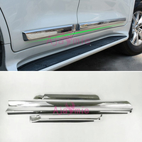 Chrome Car Styling Body Side Door Garnish Moulding Trim Kits 2008 2018 Overlay Panel For Toyota LC Land Cruiser 200 Accessories