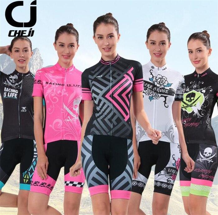 Che Ji Cycling Clothing Women Riding Team Sportswear Bike Set Ropa