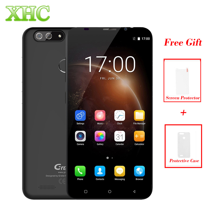Gretel S55 1GB+16GB Mobile Phone Dual Back Cameras Fingerprint ID 5.5'' Android 7.0 MTK6580A Quad Core 1.3GHz Dual SIM Cellphone