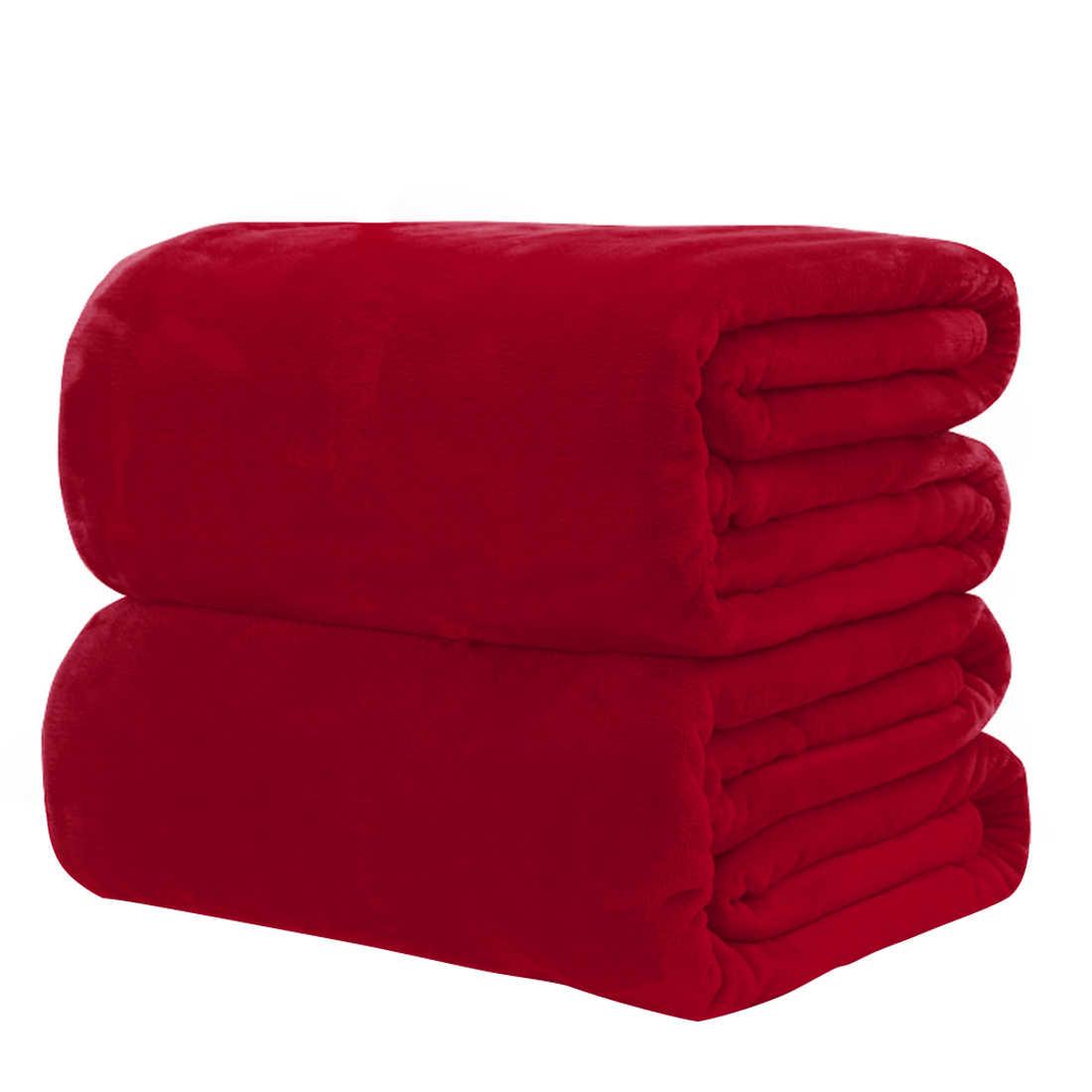 50x70 см/70x100 см фланелевое одеяло очень теплый мягкий покрывало одеяла на диван/кровать/путешествия пэчворк Одноцветный покрывало
