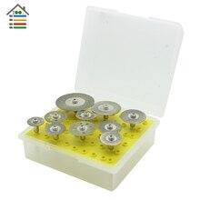 10pcs/Set Diamond Saw Blade Cutting Cut Off Discs Disk Wheel Shank for Dremel Rotary Abrasive Tool Accessories
