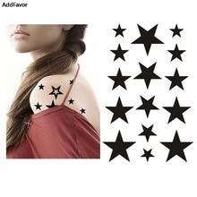 AddFavor 5PCS Small Star Designs Women Waterproof Temporary Tattoos Sticker DIY Body Art Decoration Fake Makeup Tattoo Tips