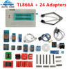 Newest V6 6 Original TL866A Universal Minipro Programmer 24 Adapters IC Clip Clamp TL866 AVR PIC