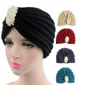 NEW Women hadmade crochet beanie Head Cover Up hat Turban with  pearl jewelry