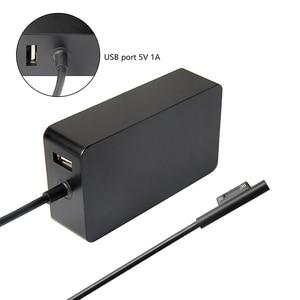Image 3 - Nouveau chargeur Portable 15V 4A 65W adaptateur secteur pour Microsoft Surface Pro 4 tablette pour Surface Book alimentation avec Port USB 5V