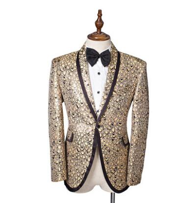 Blazer men bar host singer pattern designs suit men costume homme terno slim fit masculino palace banquet suits for mens