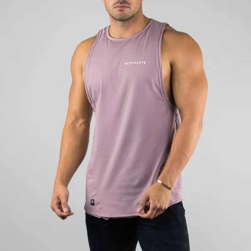 2019 New Gyms   Tank     Tops   Muscle Guys ALPHALETE Sleeveless   Tank     Tops   for Boys Bodybuilding Fitness Vest Mens Workout Muscle Shirts