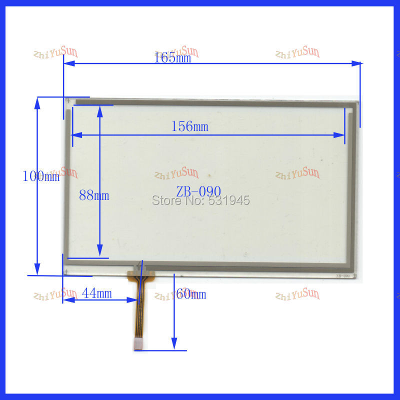 ZhiYuSun NEW HLD-TP-3103 7inch 165mm*100mm Touch Screen  Panel On  Adayo GPS CAR 165*100   Touchpad