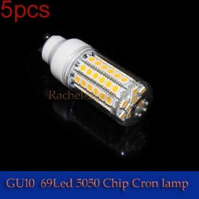 5PCS 220-240V Cool White/Warm White 69pcs LEDs Corn Light  gu10 10W SMD5050  69LEDS 990LM --------------Limited Time Offer