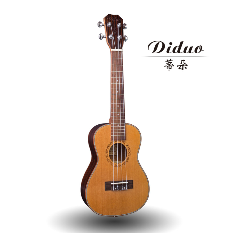 Top Solid Concert Ukulele 23 Inch Mini Guitar 4 Strings Korean Pine Rose Wood Ukelele Guitarra Handcraft Uke High Quality