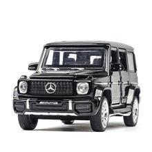 1:32 toy car model Benz G63 G65 off-road alloy car model simulation sound and light door pull back car ornaments collection gift цена