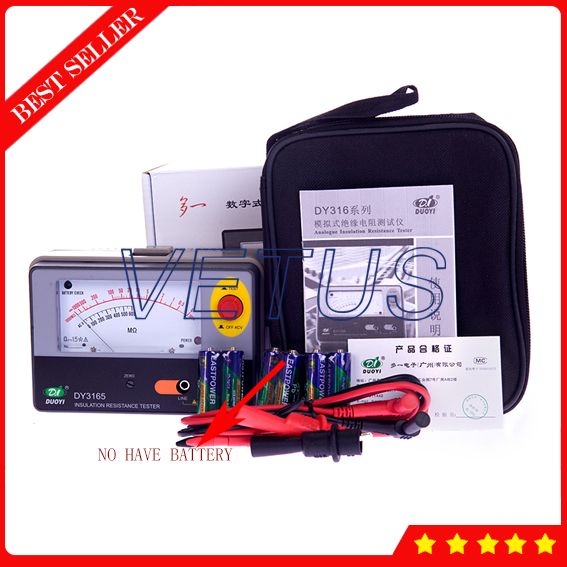 DY3165 Electronic pointer type Analogue Insulation Resistance Tester of 500V 1000M ohm lacywear s27216 3165
