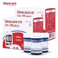 Tiras de prueba de glucosa en sangre Sinocare Sannuo GA-3 100 uds/200 Uds embotellado y 100 Uds lancetas para GA-3 la Diabetes