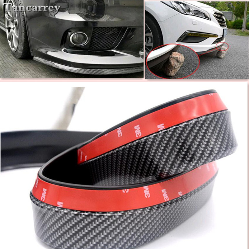 2017 new style 2.5M car front lip bumper stickers FOR golf v bmw serie 1 audi a4 b6 tiguan renault scenic 2 mazda 3 Car styling