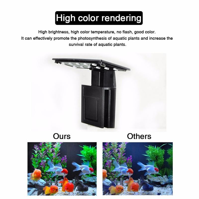 Aquarium LED Light Plants Grow Lighting Fish Tank Waterproof Clip-on Lamp 11