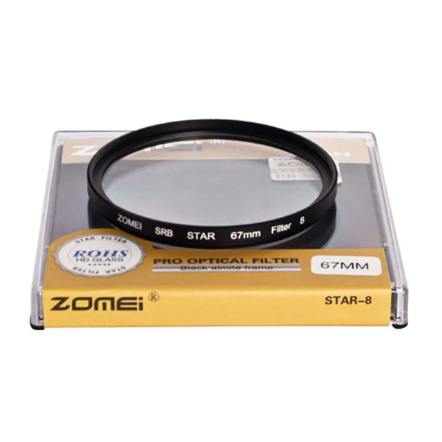 Zomei Star Line Star Filter 4 6 8 Piont Filtro Camera Filters 40.5 49 52 55 58 62 67 72 77 82mm For Canon Nikon Sony DSLR Camera