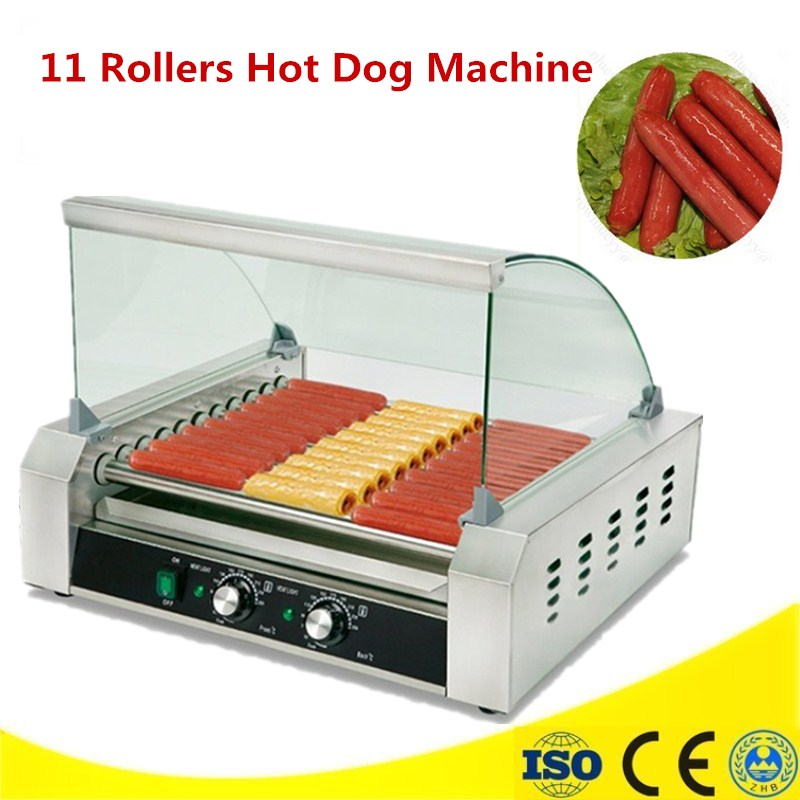 High Quality 220V 11 Rollers Sausage Rolling Machine Hot Dog Baked Machine Sausage Heating Machine Dog Roller spacemutts the sausage dog of doom