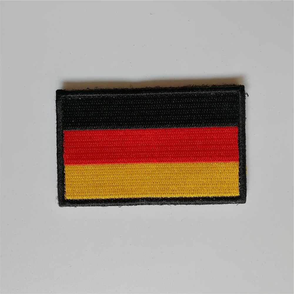Ricamato Germania bandiera patch gancio posteriore morale tattico Tedesco patch militare caccia distintivo per il Cappello cappuccio giacca su misura