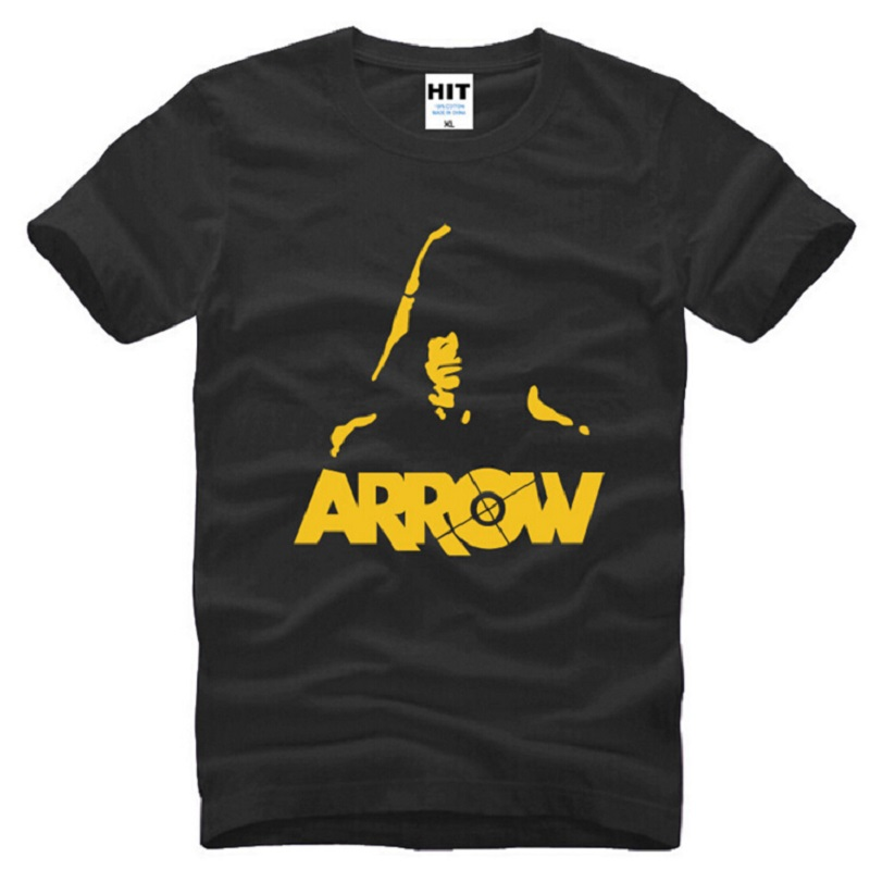 New Designer Green Arrow T Shirts Men Cotton Short Sleeve Ju