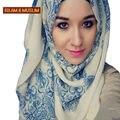 Nuevo estilo de la venda instantáneo hijab bufanda principal musulmán islam moda mujeres largo voile turbante turbante mantón de la impresión