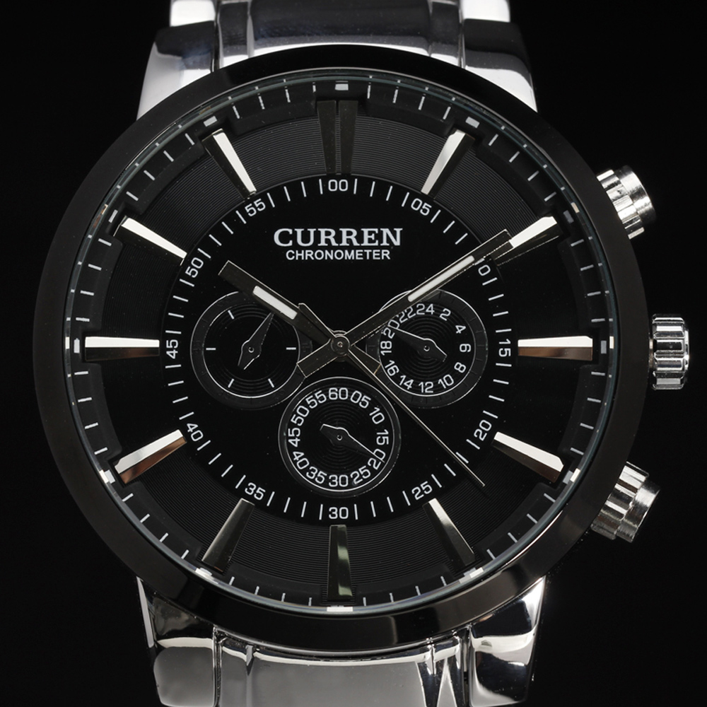 New Casual Curren Watches Men Luxury Top Brand Military Watch Men Male Full Steel Wristwatches Fashion Sport Relogio Masculino curren 2017 men watches relogio masculino luxury military wristwatches fashion casual quartzwatch water resistant calendar 8254