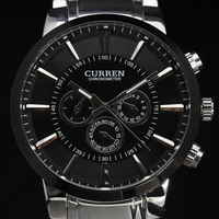 New Casual Curren Watches Men Luxury Top Brand Military Watch Men Male Full Steel Wristwatches Fashion