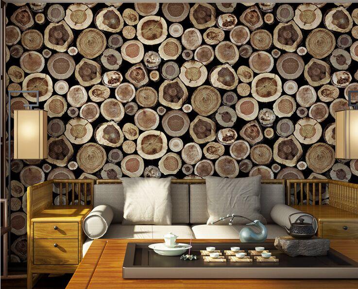 Junran chinese classic vintage imitation wood grain stake