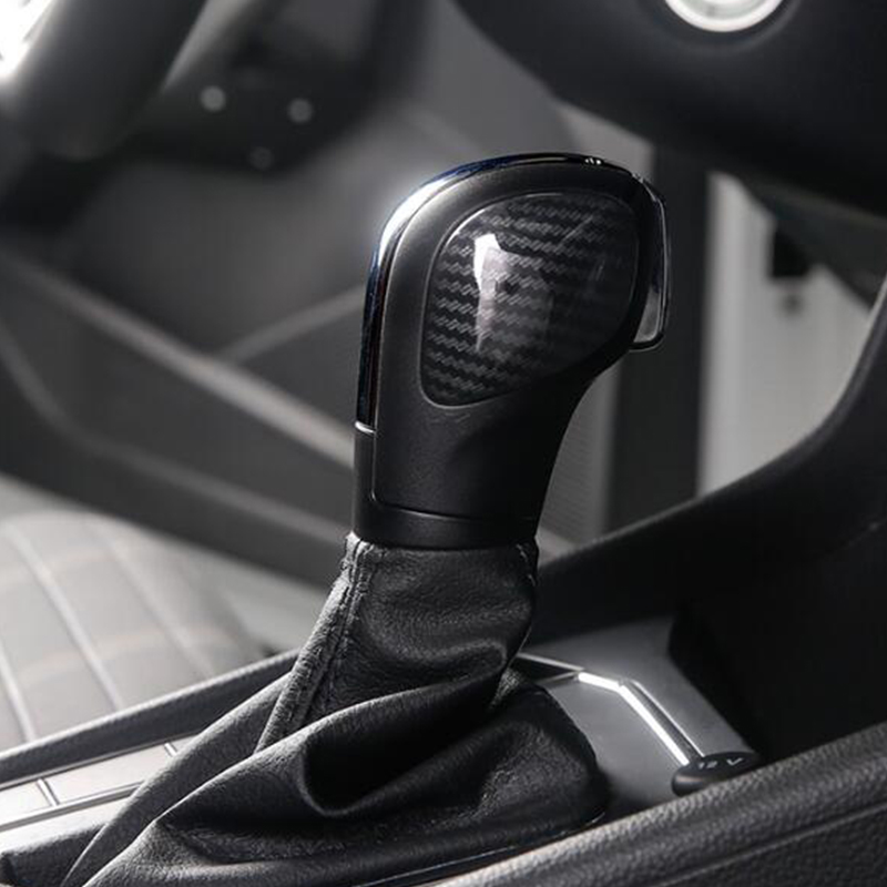 ABS Plastic Chrome accessories styling For Volkswagen Touareg 2011 - 2018 Car Auto Gear Shift Knob Lever Handle Cover Trim